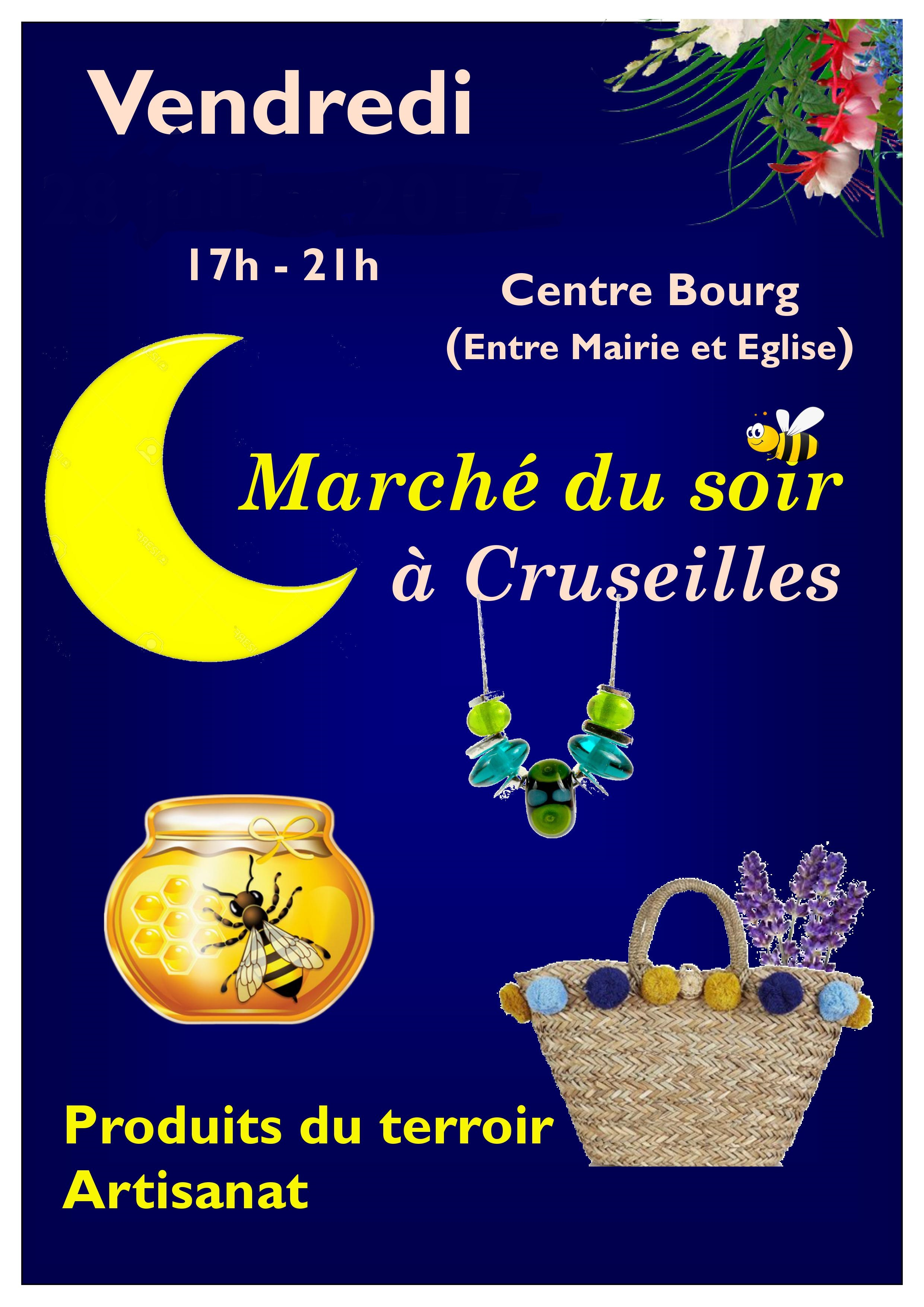 Marché nocturne Cruseilles 31 Août de 17h à 21h