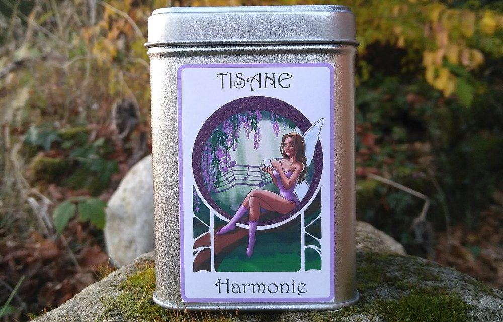 Boite décorée Fée Harmonie – Tisane Bio
