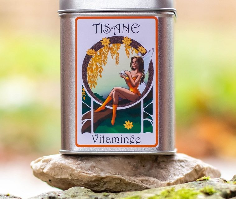 Boite décorée Fée Vitaminée – Tisane Bio